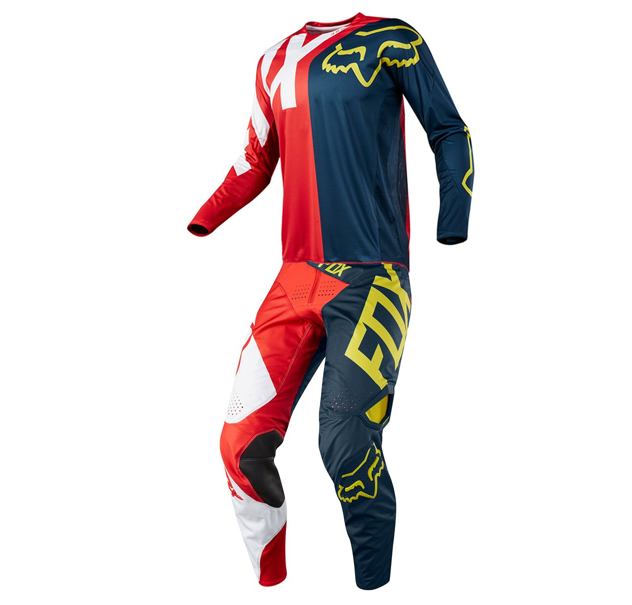 Fox Racing 360 Preme Navy & Red Jersey/ Pant Youth Combo - Size Y-LARGE/ 26W