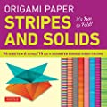 "Origami Paper - Stripes and Solids 6"" - 96 Sheets: (Tuttle Origami Paper)"