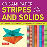 """Origami Paper - Stripes and Solids 6"""" - 96 Sheets: (Tuttle Origami Paper)"""