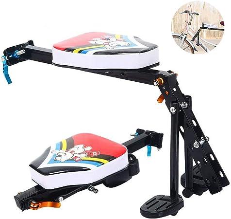 Sillas De Bicicletas para Niños Asiento Delantero De Seguridad para Bicicleta Sillín Infantil Portabebés para Bicicleta con Pedales Respaldo hasta De 3-7 Años De MAX 30 Kg: Amazon.es: Hogar