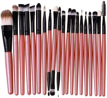 20 Unids Mango De Madera Set de Brochas de Maquillaje herramientas Maquillaje Kit de Tocador de Lana Maquillaje Set de Cepillos brochas maquillaje brocha maquillaje: Amazon.es: Belleza