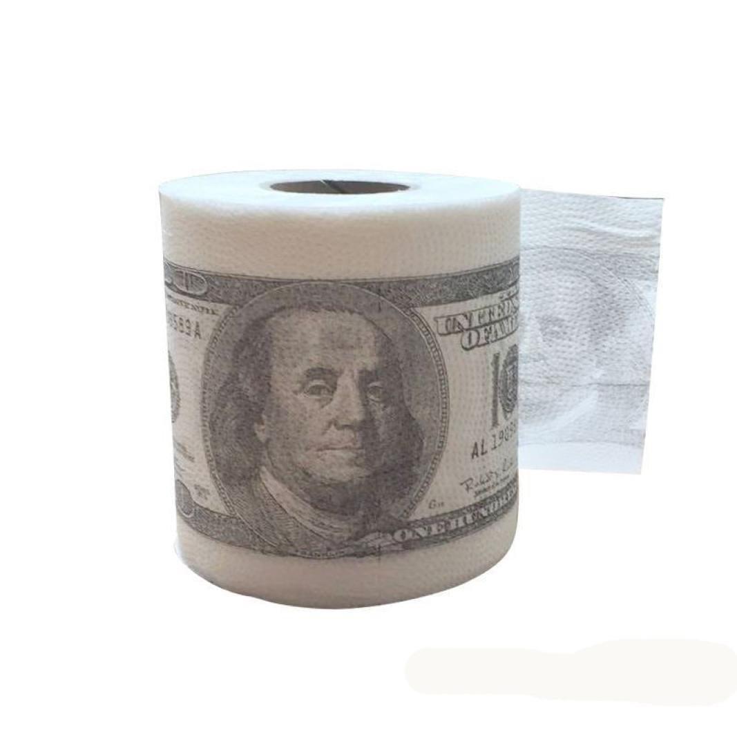 Forum Novelties Creazy One Hundred Bill Printed Toilet Paper America US Dollars, White