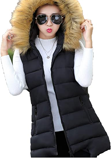 Padded Gilet Womens Autumn and Winter Down Vest Down Jacket