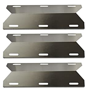 Hongso SPA231 (3-Pack) Stainless Steel BBQ Gas Grill Heat Plate, Heat Shield, Heat Tent, Burner Cover, Vaporizor Bar, and Flavorizer Bar for Costco Kirland, Jenn-air, Nexgrill, Lowes (17 3/4