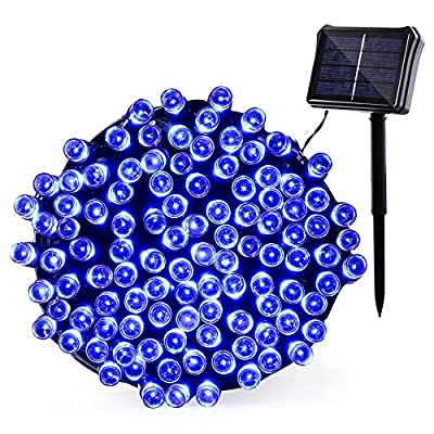 Qedertek Solar & Battery Powered Christmas Lights, 72ft 200 LED Dual Power Supply Seasonal Decorative Fairy String Lights for Home, Garden, Patio, Holiday, Wedding and Party Decorations