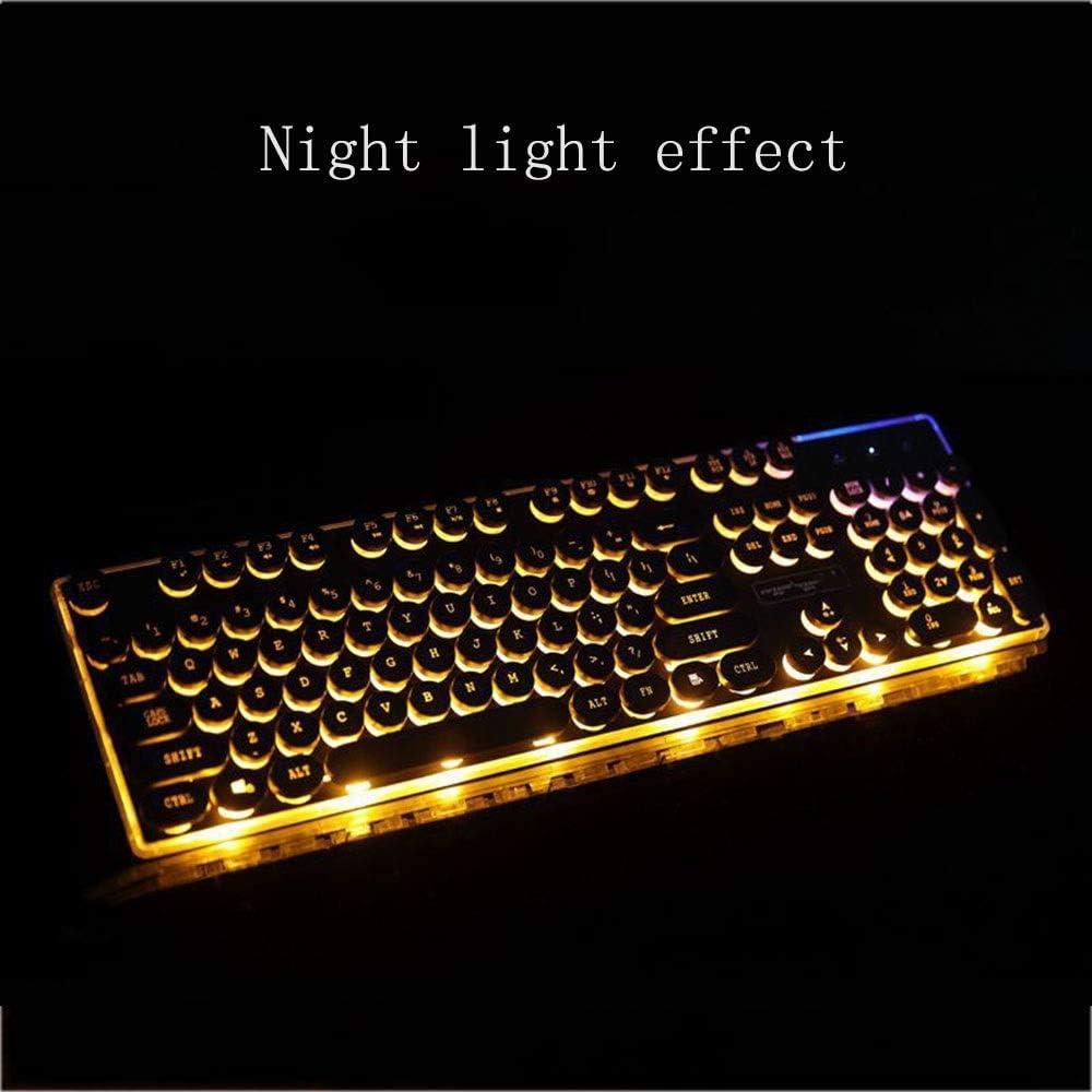 Feel Good and React Fast Computer Keyboard Wired Keyboard Tinder Biz USB Notes Floating Illuminated Keyboard JIADUOBAOSEN Color : Orange