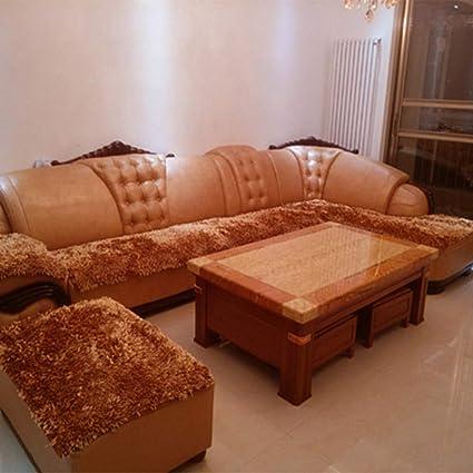 Amazon.com: WJX&Likerr Leather Sofa Cushion,Plush Sofa Cover ...
