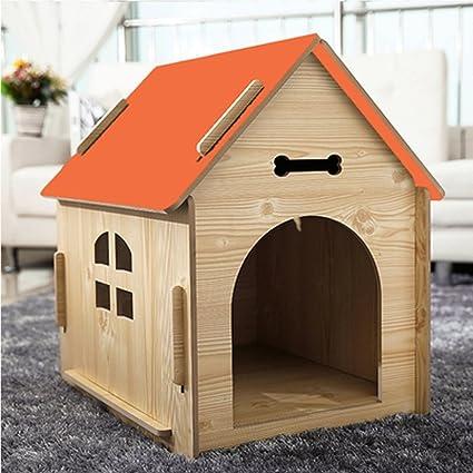 YIXIN Gatos y Perros Habitación Pet / Casa Madera Calidad Four Seasons Disponible Orange 3 Tamaño