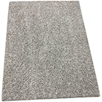 Odd Sized Speckled Light Gray Area Rugs. Durably Soft Textured 100% PureColor BCF Polyester. FHA Approved, Made in U.S.A. Custom Sizing Available (6 x 12)