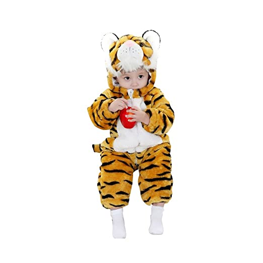 5dc5f22d4 Lovelfly Baby Cute Boy & Girl Tiger Onesie Costumes/Sleepsuit (80cm(for ages