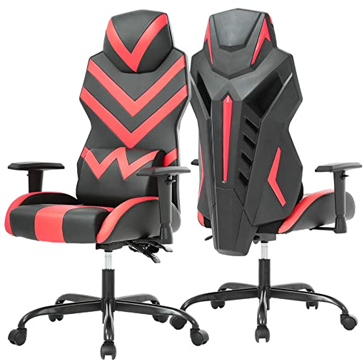 PC Gaming Chair Ergonomic Office Chair Desk Chair with Lumbar Support Arms Executive Computer Chair Rolling Swivel Task Chair for Back Pain, Red