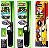 3 Pack Combo - 2 pack Calico HOT SHOT 2 Wind Resistant Lighters + Scripto Multi Purpose Lighter (Random Color) (Aim'n Flame II Wind Resistant