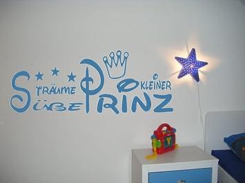 Wandtattoo Kinderzimmer Kind Baby Text Susse Traume Kleiner Prinz Krone Und