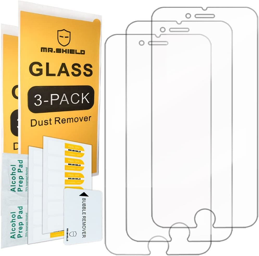 [3-PACK]- Mr.Shield For iPhone 7 Plus/iPhone 8 Plus [Tempered Glass] Screen Protector [Japan Glass With 9H Hardness] with Lifetime Replacement