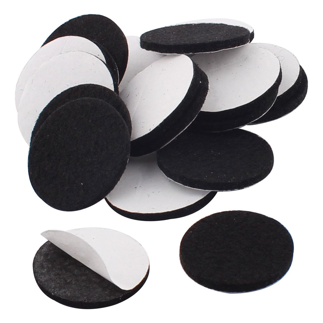 uxcell Home Office Self Stick Protecting Protecter Furniture Felt Pads Mats Cushions 30mm Dia 20pcs Black