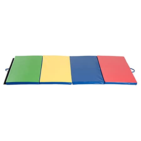 Colchoneta 245x120x5cm Grosor 5 cm Plegable con Asas 4 Pliegues Yoga Pilates