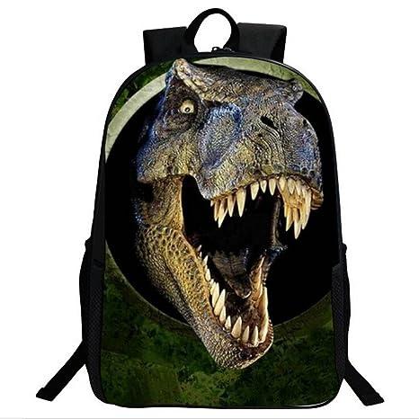 3D Dinosaur Boys Mochila Animal Print School Bags para Niños Adolescentes Mochila Dinosaurio