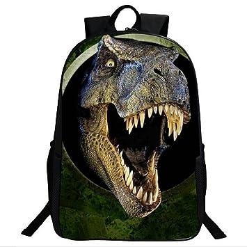 e9d55be01032 3D Dinosaur Boys Backpack Animal Print School Bags for Kids Teens Rucksack  Dinosaur