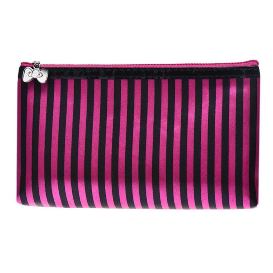 Womail Women Printed Make Up Bag Wallet Handbags (Pink)