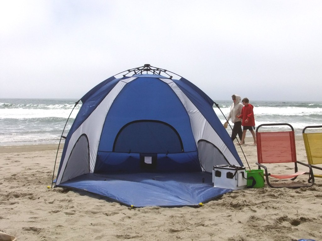 Amazon.com  Genji Sports One-Step Instant Push Up Hexagon Beach Tent (Tall)  Genji Pop Up Beach Tent  Sports u0026 Outdoors & Amazon.com : Genji Sports One-Step Instant Push Up Hexagon Beach ...