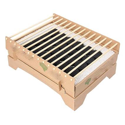 Jiu Si- Barbacoa - BBQ desechable Japonés Pequeño carbón de ...