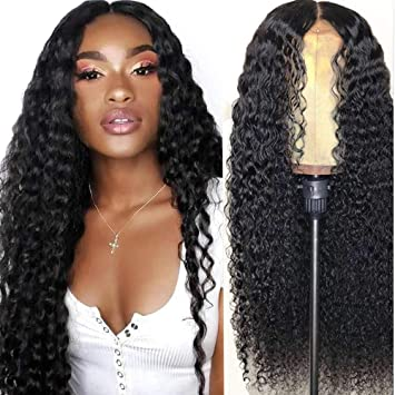 Amazon Com Deep Wave Lace Front Human Hair Wigs Pre Plucked Deep Curly Lace Closure Wigs For Black Women 4x4 Deep Wave Closure Wig Brazilian Human Hair Deep Wave Lace Front Wig