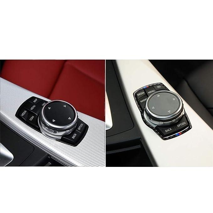 Accesorios interiores Marco de tres fibra del carb/ón Color de multimedias del coche de la etiqueta engomada for BMW X3 F16 F25 X6 sutible for F30 X5 F10 F20 F07 F15 X4 F26 F34