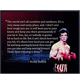 Time 4 Picture Rocky Balboa Boxing Picture with Quote World Box English GICLEE Art DECOR