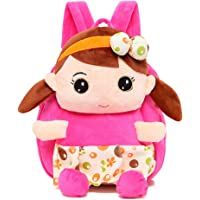Swesy Kids Toddler Baby Girls Plush Toy Backpack Snack Travel Bag 1-3 Years
