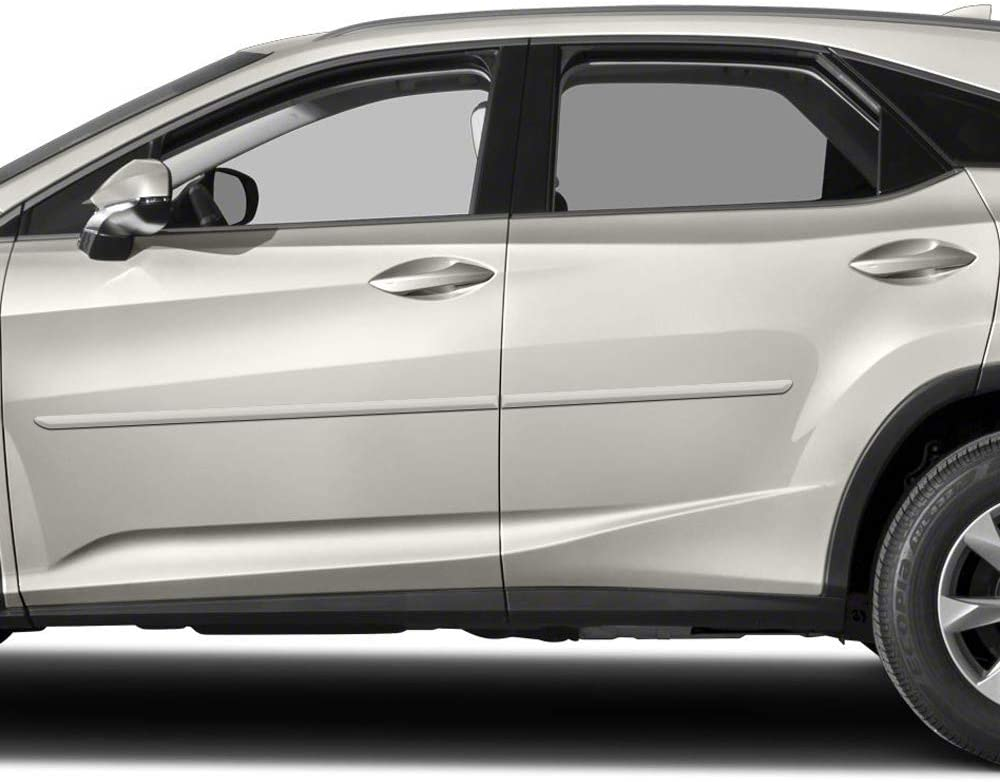 1J7 Atomic Silver Dawn Enterprises FE-RX16 Finished End Body Side Molding Compatible with Lexus RX