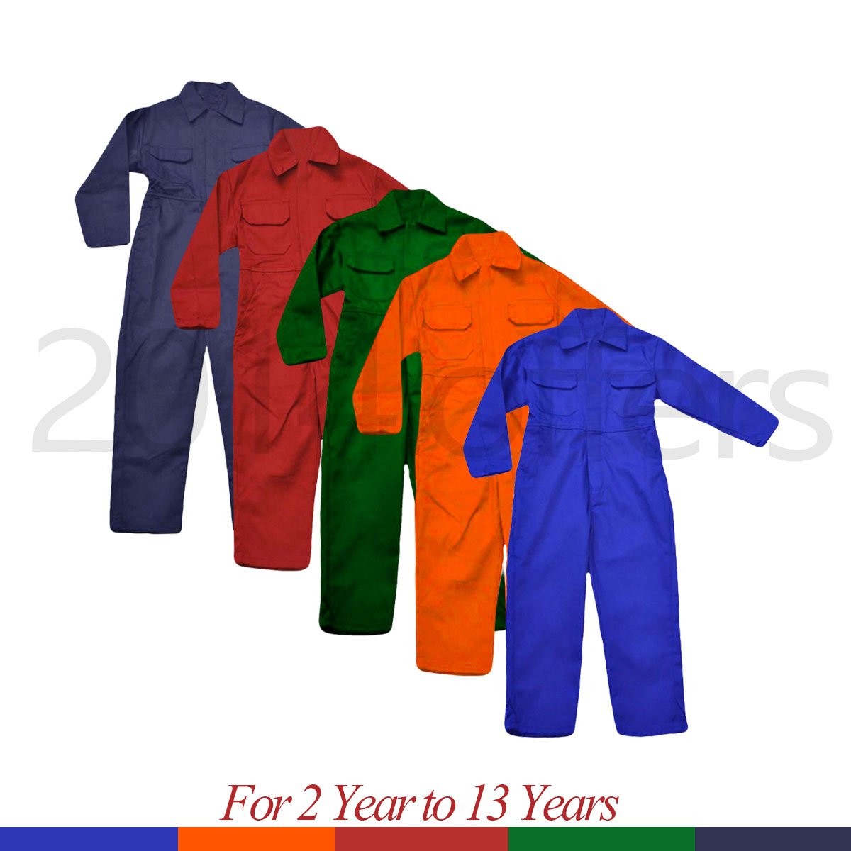 Child Kids Children Boys Girls Boiler suit Overalls Coverall Boiler Suit 2-14 Years