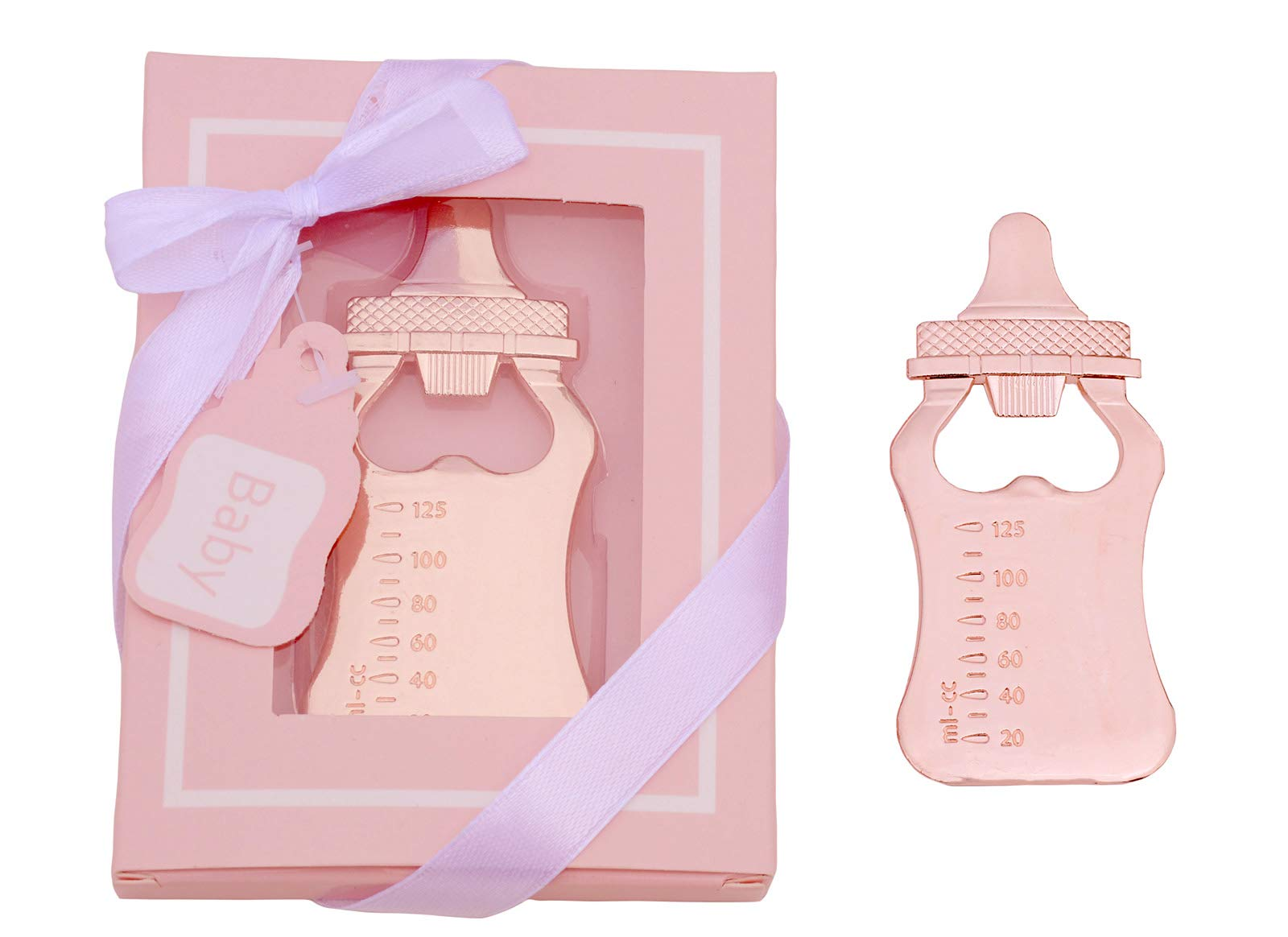 YYaaloa 24pcs Baby Bottle Shapped Bottle Openers Baby Shower Return Gifts Wedding Favors for Guests Party Favors (New Pink 24pack) by YYaaloa