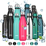 Umi. by Amazon - Botella Agua Acero Inoxidable, Termo 500ml, Sin BPA, Islamiento de Vacío de Doble Pared, Botellas Frío…