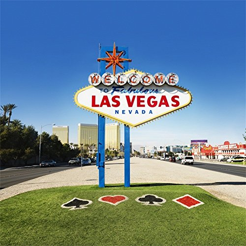 OFILA Las Vegas Backdrop 6x6ft Valentine's Day Casino Themed Danced Party Wedding Portraits 21st Birthday Party Celebration Graduation Engagement Party Bridal Shower Photos Vegas Themed Video -
