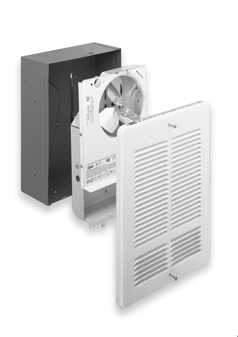 King Electric W2420-W King W2420 240-Volt 2000-Watt Electric Wall Heater, Bright White by King Electric (Image #2)
