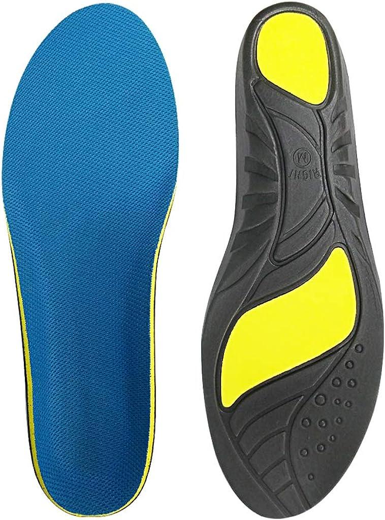 STN lantillas ortopédicas, soporte deportivas plantillas, para ayudar a reducir el dolor en el talón, fascitis plantar, rodilla/dolor de espalda y tendinitis de Aquiles