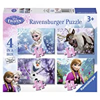 Ravensburger - Disney Die Eiskönigin - Völlig unverfroren 4 in 1 Puzzle-Set...