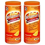 Metamucil With 100% Natural Psylluim Fiber, Orange (20.3 Oz (2 Pack))
