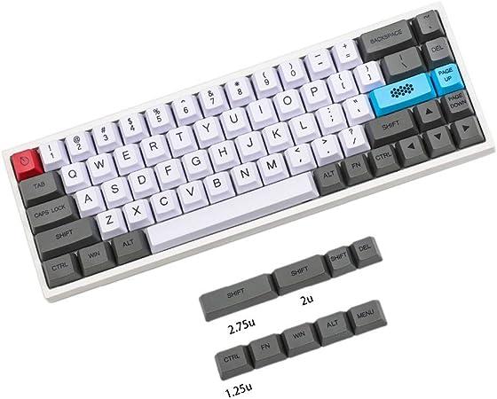 YMDK 61 64 68 ANSI Dye Subcarbono personalizado Keyset OEM Perfil grueso PBT Keycap para teclado mecánico MX GH60 SP64 GK64 Tada68