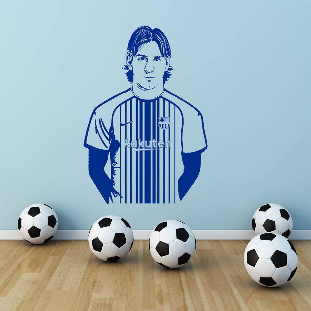 Ajcwhml Barcelona Lionel Messi Etiqueta de La Pared Decal Art ...