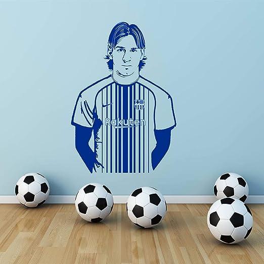 jtxqe Barcelona Lionel Messi Etiqueta de La Pared Decal Art Fútbol ...