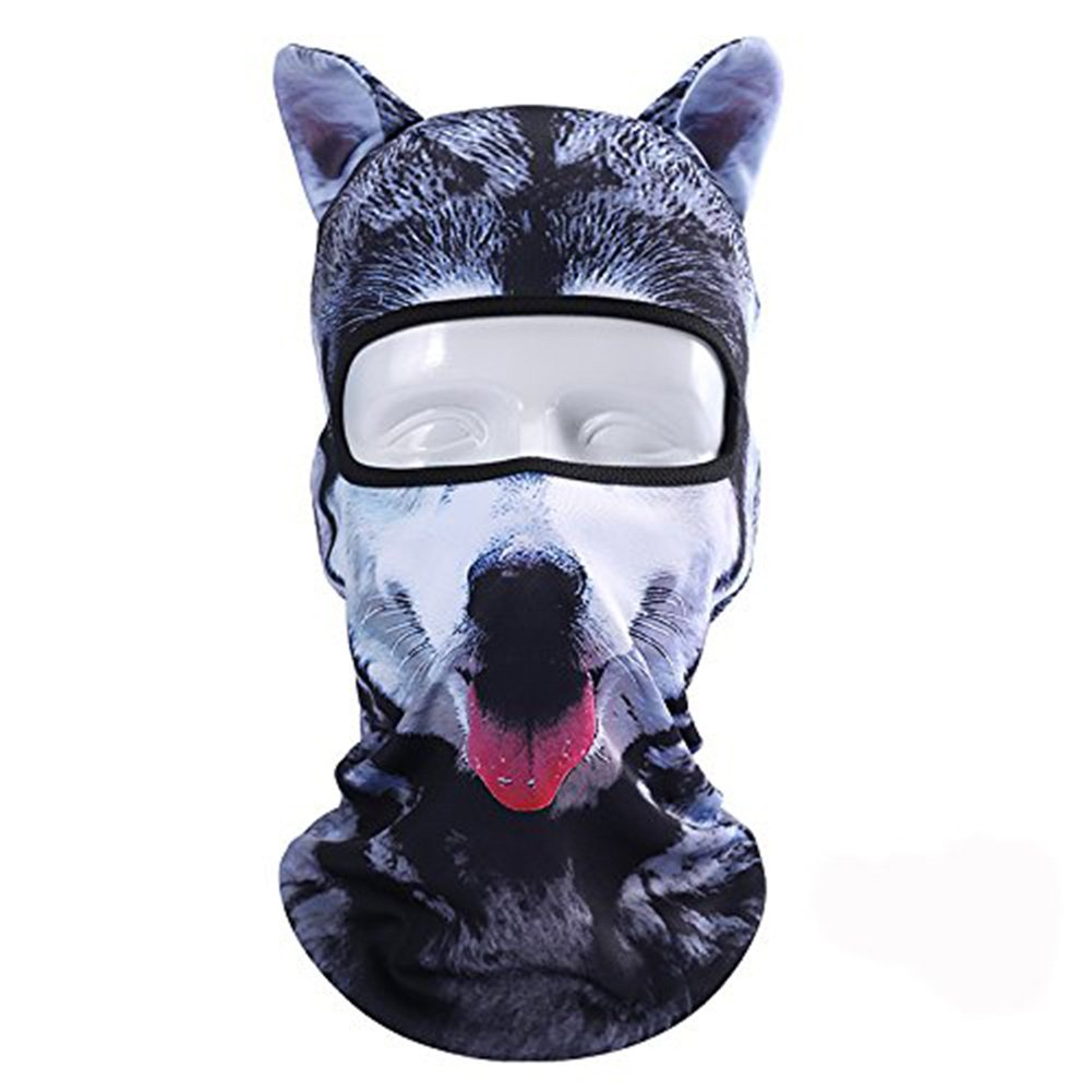 TAGVO 3D Animal Pattern Balaclava, Animal Balaclava Neck Face Mask with Ears Breathable Hood Face Shield for Outdoor Sports Cycling Motorcycle Ski/Halloween Party Gift - One Size Fit Most (Women/Men)