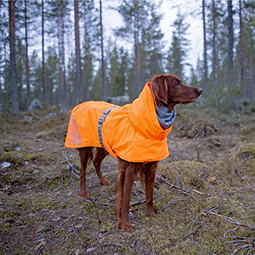 Image of Hurtta Extreme Warmer Dog Winter Jacket, Orange, 24 in
