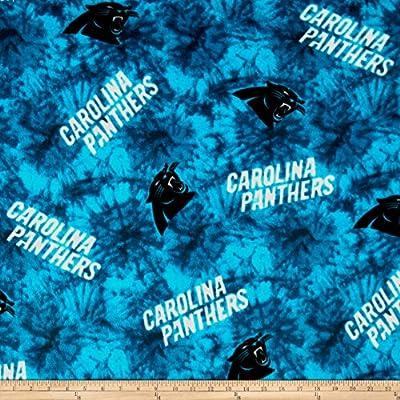 NFL Fleece Carolina Panthers Blue Fabric By The Yard