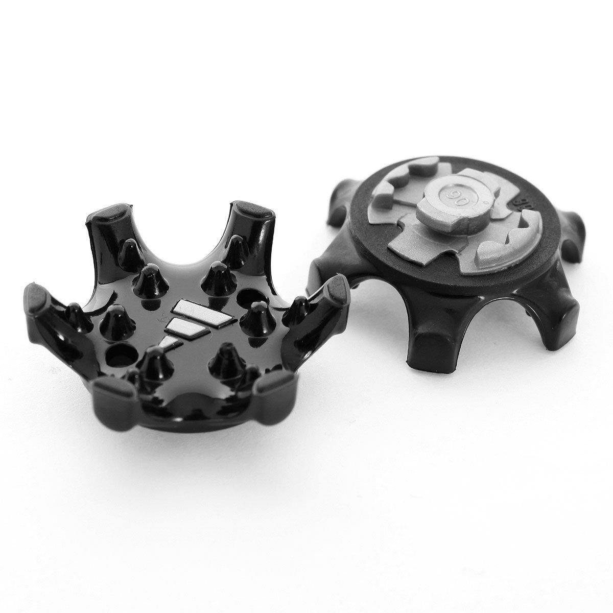 Rungao STRONGCLOUD 20 piezas Picos para zapatos de golf de fácil recambio, color negro, crean una plataforma de perfil más bajo