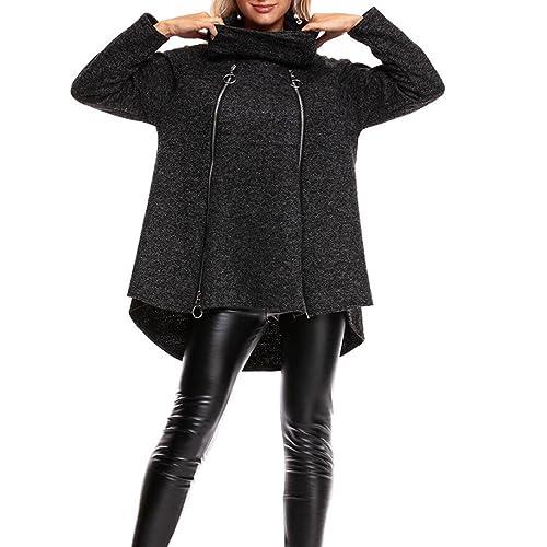 Escudo, abrigo,Internet Sudadera abierta con cremallera femenina de las señoras del invierno Abrigo ...
