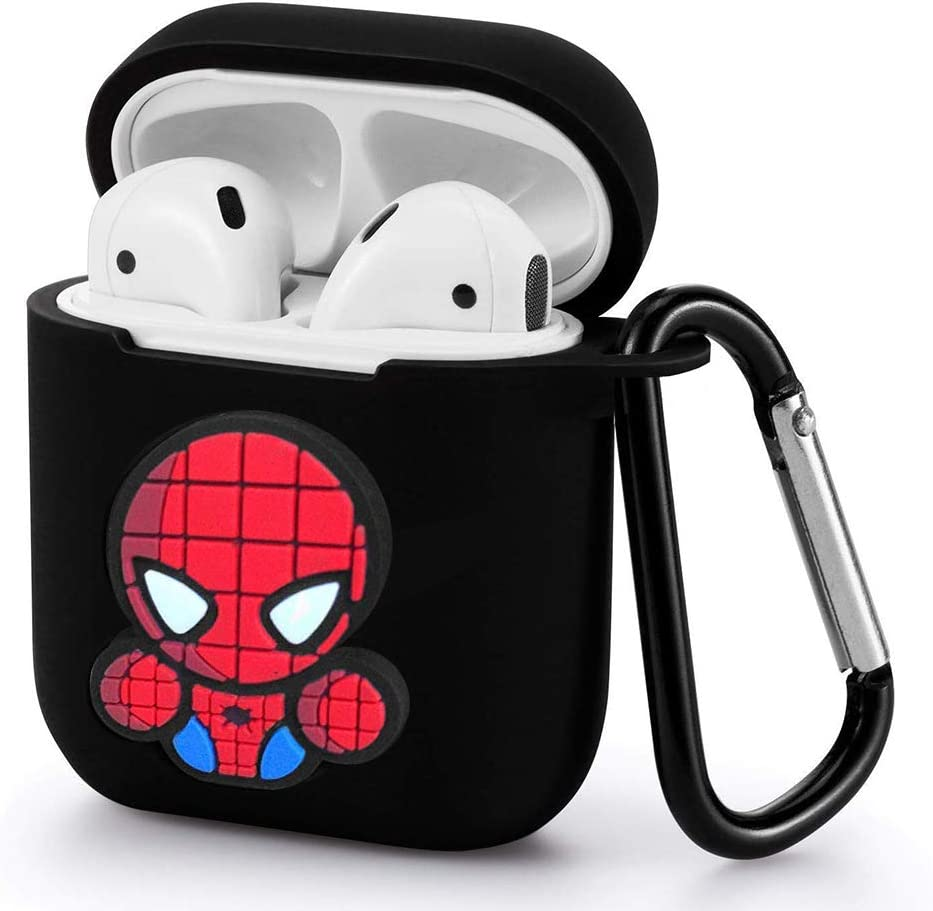 eSeeking Protective Silicone Cover Skin of Charge Case for Apple Airpods 2 /& 1 Model Spider