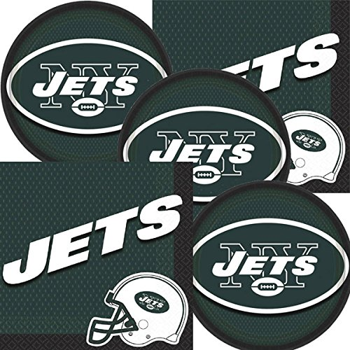 (New York NY Jets NFL Football Team Logo Plates And Napkins Serves 16)