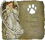 Joseph Studio 63970 Pet Memorial Garden Stone/Plaque with Verse in Loving Memory of a Faithful Friend, 9-Inch
