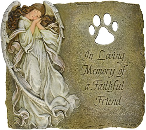 (Joseph Studio 63970 Pet Memorial Garden Stone/Plaque with Verse in Loving Memory of a Faithful Friend, 9-Inch)